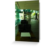 Deserted Office Building Foyer Greeting Card