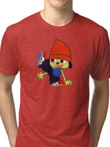 Parappa The Rapper T-Shirt/Sticker Tri-blend T-Shirt