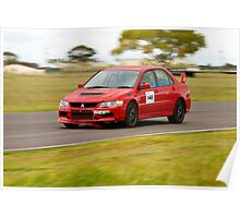 Mitsubishi Evo At Mallala Poster