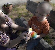 Feeding a young Texas boy by Roschetzky