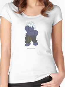 BEARS and FIGHTERS - Oni Women's Fitted Scoop T-Shirt