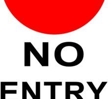 No Entry! Sticker