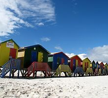 Muizenberg huts by Karen01