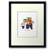 BEARS and FIGHTERS - Yun and Yang Framed Print
