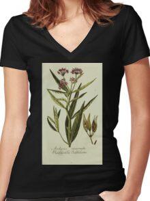 Plantarum Indigenarum et Exoticarum - Lukas Hochenleitter und Kompagnie 1788 - 187 Women's Fitted V-Neck T-Shirt