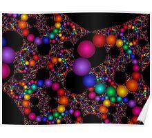 Rainbow Beads Poster