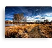 Just Following the Trail Canvas Print