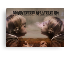 Proud Member Banner Canvas Print