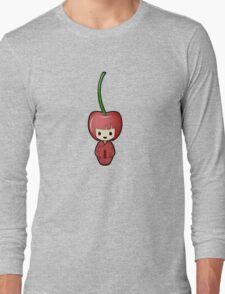 Cherry Kokeshi Doll Long Sleeve T-Shirt