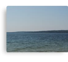 A Windy Summer Day at Matheson Lake Canvas Print