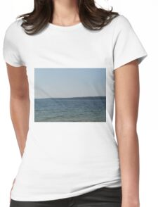 A Windy Summer Day at Matheson Lake Womens Fitted T-Shirt
