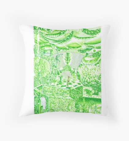 Radiating nuclear power plant Throw Pillow