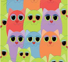 CAT CROWD by Jean Gregory  Evans