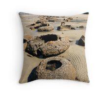 Beach Bowl-ders Throw Pillow