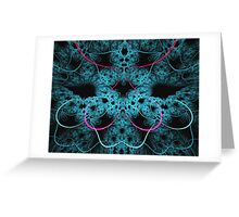 Scratching blue patterns Greeting Card