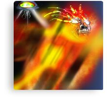 The heat ray on the people. Canvas Print