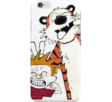 Calvin and hobbes moment iPhone Case/Skin
