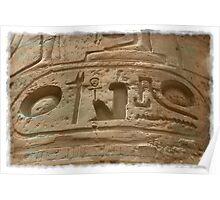 Karnak hieroglyphs, Egypt Poster