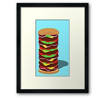 Tower Burger Framed Print