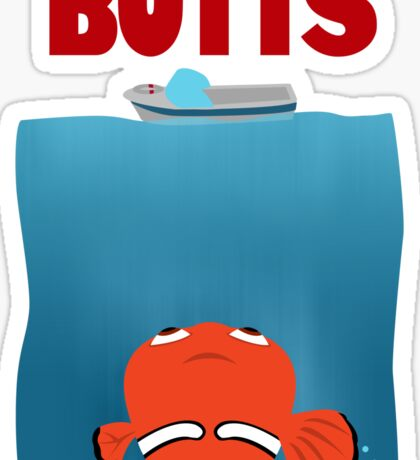 BUTTS - JAWS Parody Sticker
