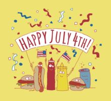 Happy July 4th Picnic  One Piece - Short Sleeve