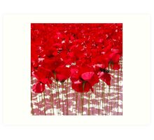 A red poppy day (but not real ones!) Art Print