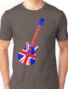 Retro Brit Pop Guitar Unisex T-Shirt