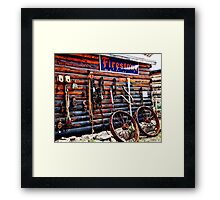 Firestone Sign and Tools Framed Print