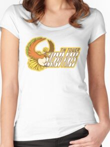 Tin Tower Sacred Fires: Ho-oh Sports Logo Women's Fitted Scoop T-Shirt