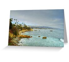 Laguna Beach Coastline Greeting Card