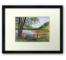 Apple Cross Bay...Ross-Shire. Framed Print