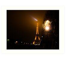 Following lights in Paris Art Print