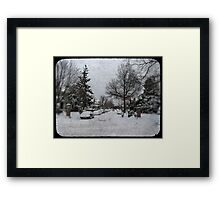 Brooklyn Snow Framed Print