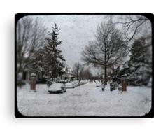 Brooklyn Snow Canvas Print