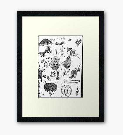 Pen sketching Framed Print