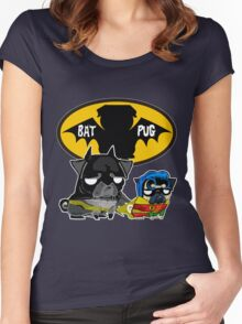 dark lord batpug Women's Fitted Scoop T-Shirt