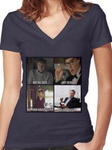 Sherlock BBC Cast Women's Fitted V-Neck T-Shirt