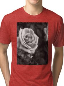 Pink Roses in Anzures 1 B&W Tri-blend T-Shirt