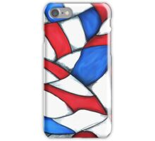 Red, White, and Blue Abstract iPhone Case/Skin