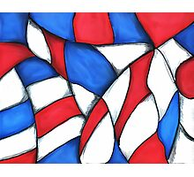 Red, White, and Blue Abstract Photographic Print