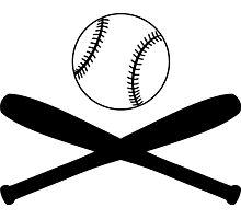 Baseball and Crossed Bats Photographic Print