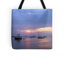 sunset in watch hill, rhode island Tote Bag