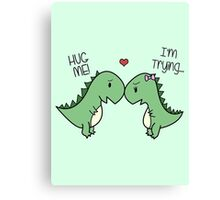 Dino Love! (Hug Me!) Canvas Print