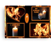 From A Flicker To A Flame Canvas Print