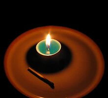 A Power Cut, A Candle by burlism