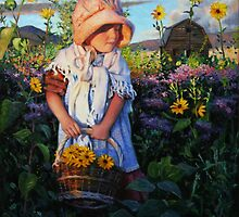 Ruby's Sunflowers by Dan Lewis