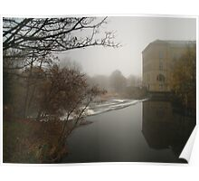 River Aire & New Mill Poster