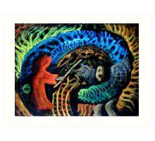 Shaman vs. Wizard Art Print