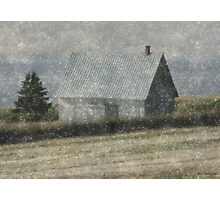 North Shore Snowstorm Photographic Print
