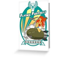 Flying Fortress Greeting Card